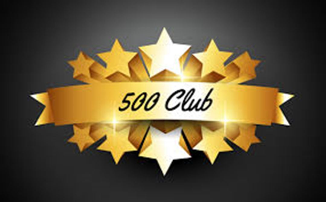 Welcome Chris to the $500 Club