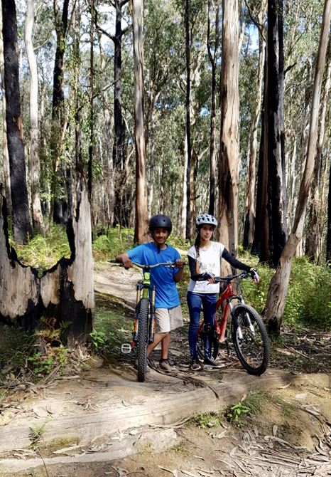 Mariam's first Mtb Black Run