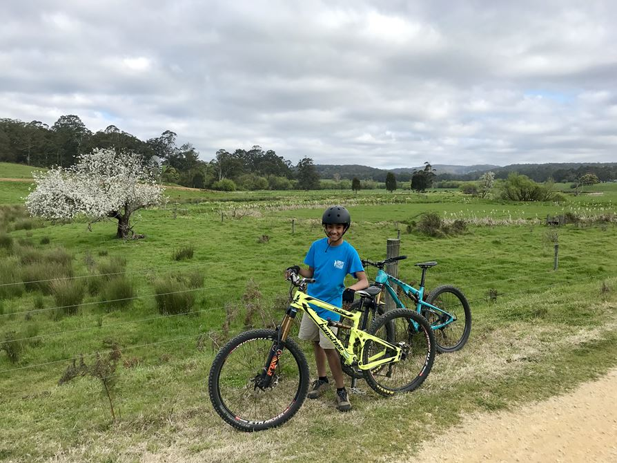 Riding the Tiger Rail Trail in Forrest