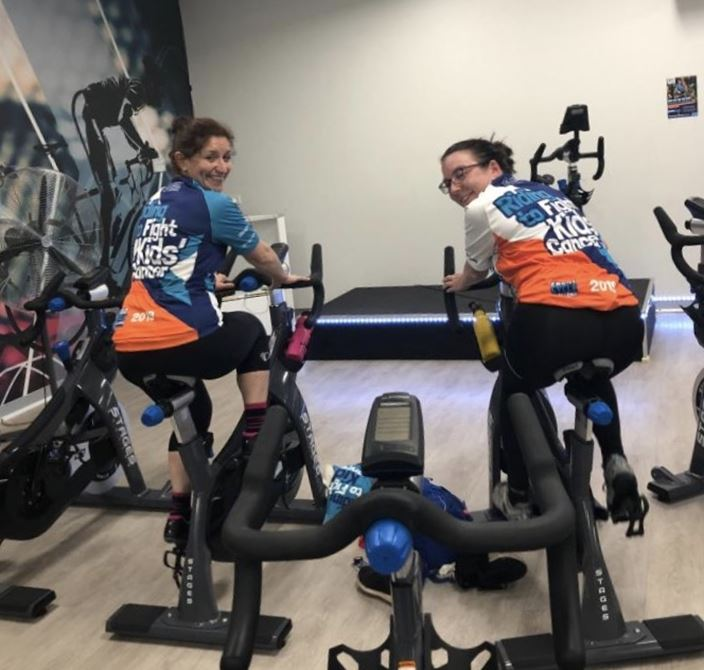 Cycling to fight kids' cancer. 🚴🏻‍♀️🚴🏻‍♀️