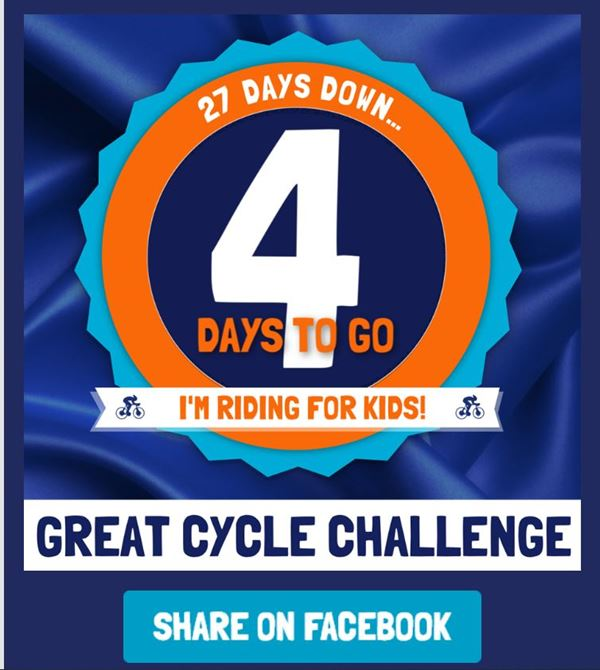 Last week of the 2019 Great Cycle Challenge !!!