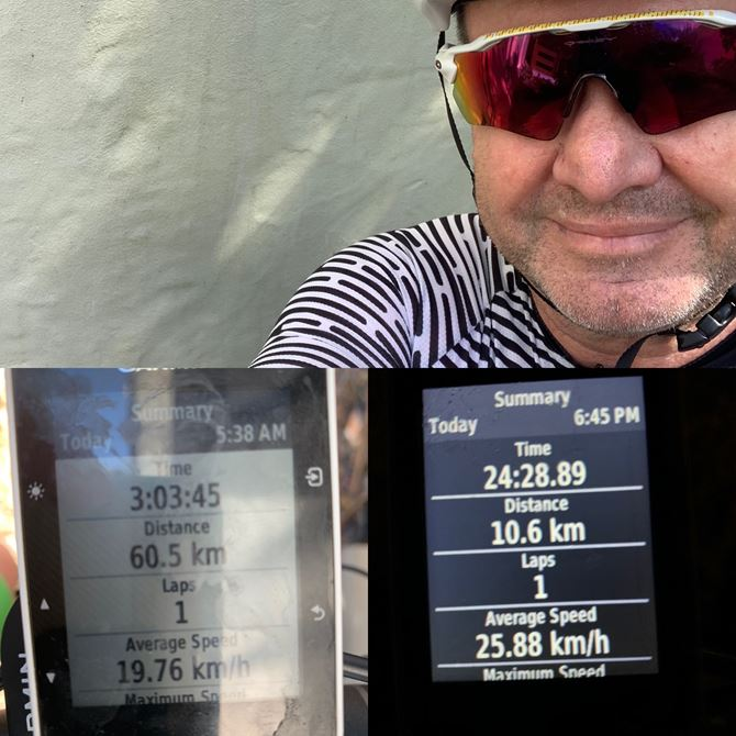 Smashed out 60km